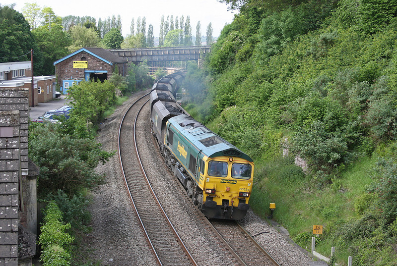 66524, 08.25 Portbury-Rugeley Power Station, Caerleon, near Newport, 29-5-12.
