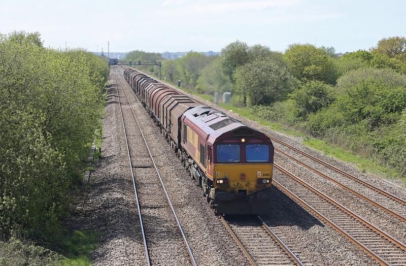 66116, 11.16 Margam-Llanwern, St Mellons, Cardiff, 8-5-12.