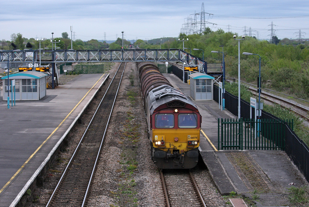 66078, 17.03 Round Oak-Margam, Severn Tunnel Junction, 8-5-12.