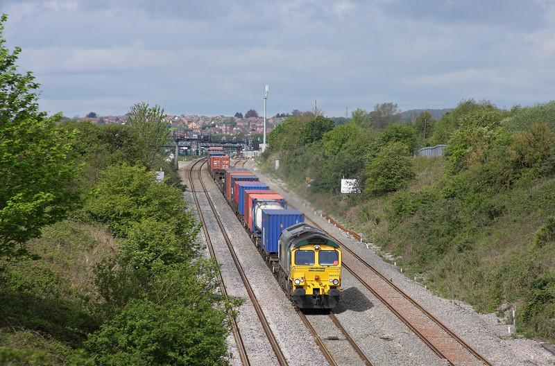 66543, 09.58 Cardiff Wentloog-Southampton Millbrook, Caldicot, 8-5-12.