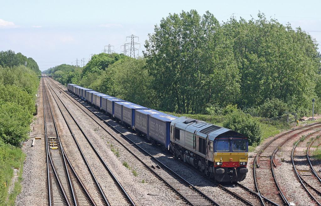 66431, 08.22 Daventry International Rail Freight Terminal-Cardiff Wentloog, Llanwern West Junction, 29-5-12.
