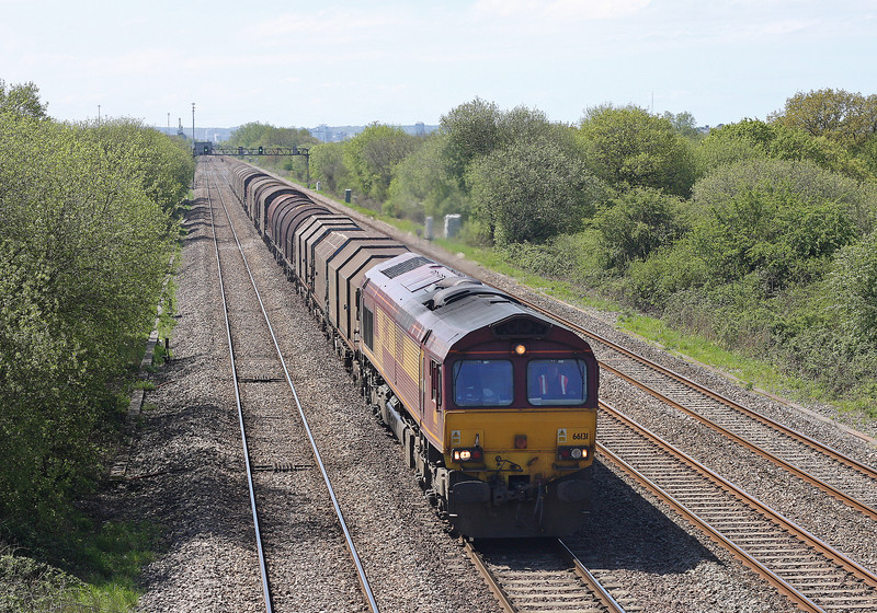 66131, 11.55 Margam-Round Oak, St Mellons, Cardiff, 8-5-12.