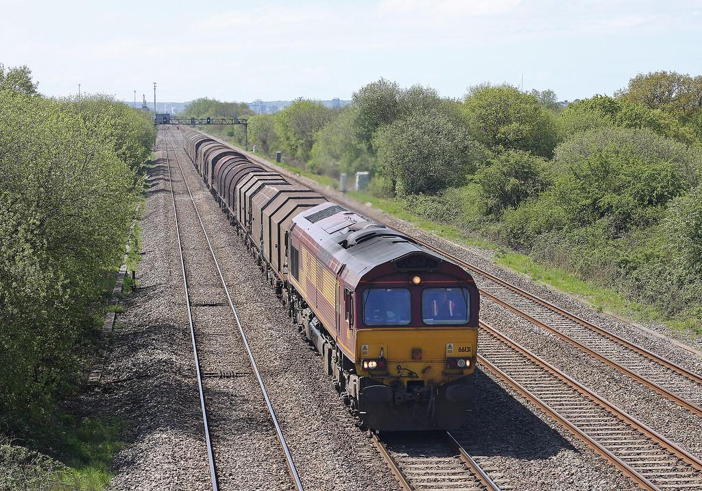66131, 11.55 Margam-Round Oak, St Mellons, Cardiff, 8-5-12.