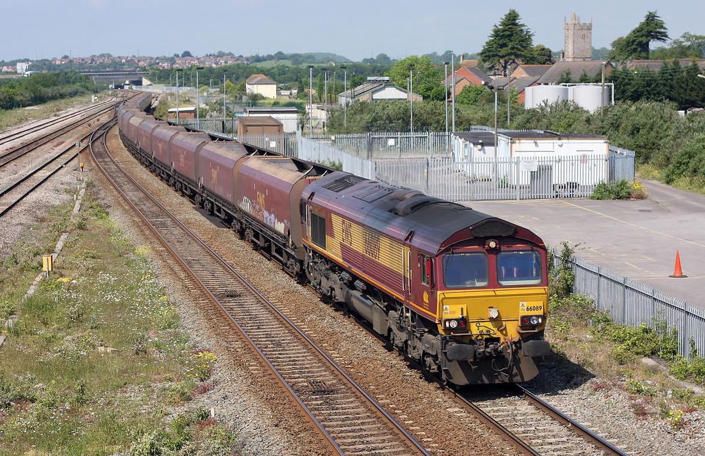 66089, 0.75 Aberthaw Power Station-Avonmouth Bulk Handling Terminal, Severn Tunnel Junction, 29-5-12.