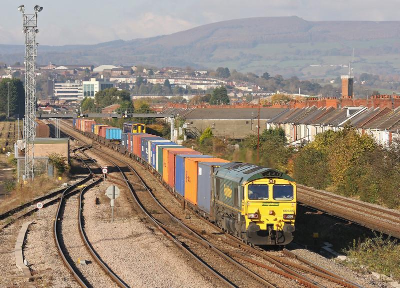 66536, 09.58 Cardiff Wentloog-Southampton Maritime, Somerton, Newport, 5-11-12.