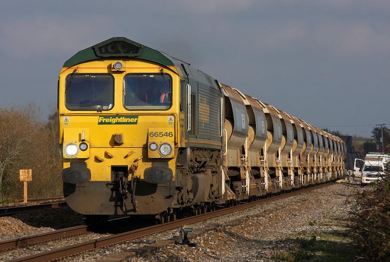 66546, 11.37 Westbury Yard-Exeter Riverside Yard, Cogload, 14-11-12.