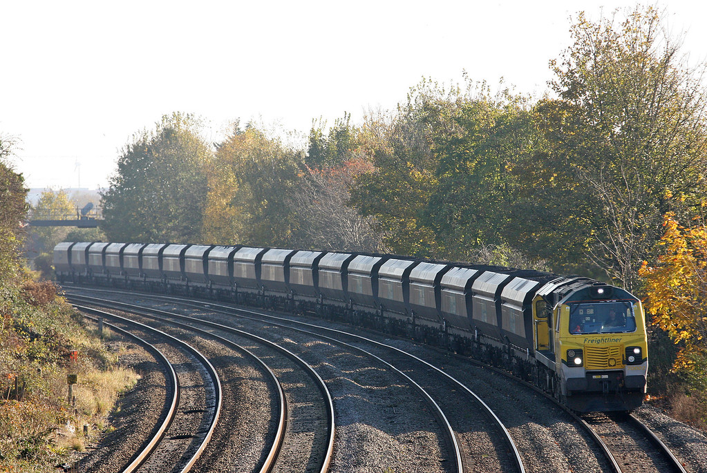 70002, 08.25 Portbury-Rugeley Power Station, Somerton, Newport, 5-11-12.