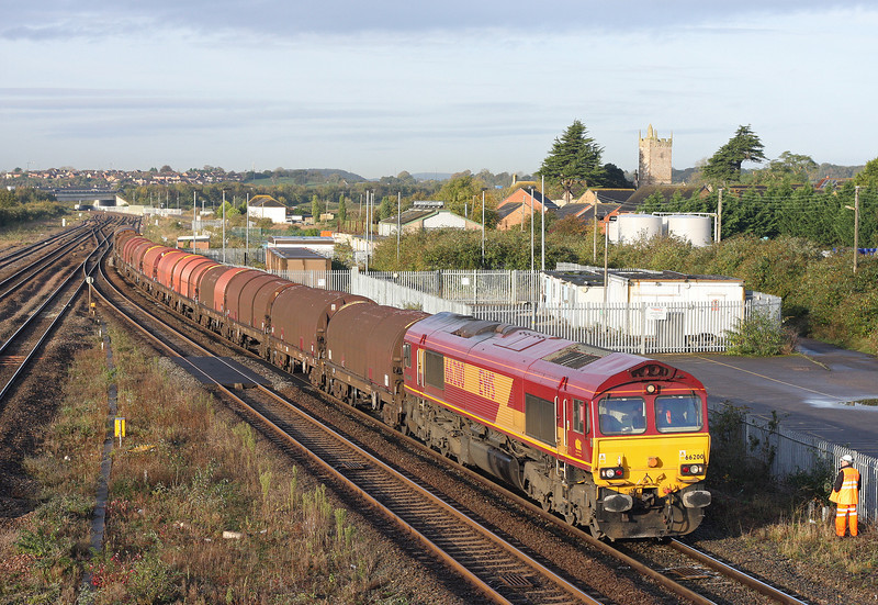 66200, 08.18 Llanwern-Swindon Steel Terminal, Severn Tunnel Junction, 30-10-12.