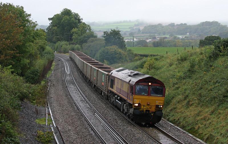 66041, 12.41 Exeter Riverside Yard-Westbury Yard, Whiteball, 11-10-12.