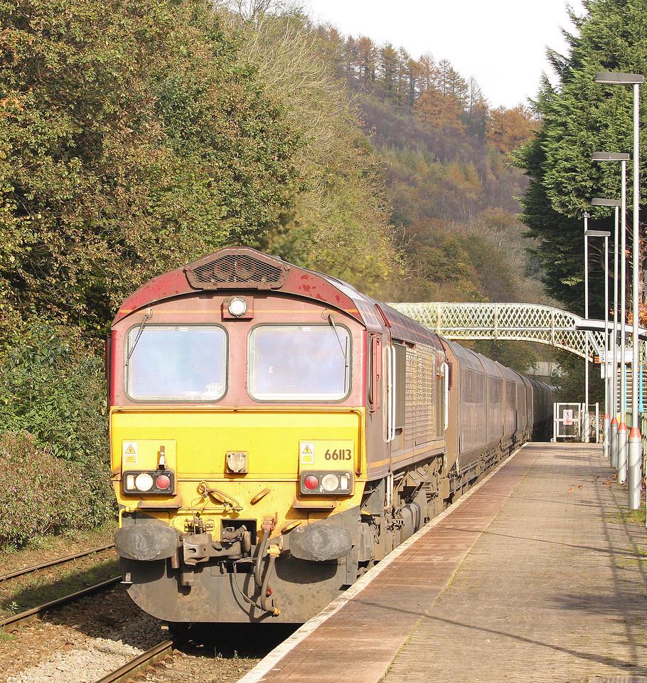 66113, 10.00 Cwmbargoed Opencast Colliery-Aberthaw Power Station, Llanbradach, near Caerphilly, 30-10-12.