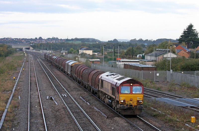 66067, 04.45 Margam-Round Oak, Severn Tunnel Junction, 30-10-12.