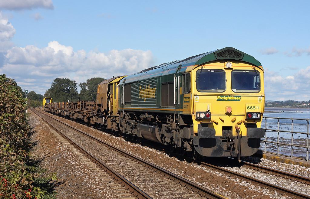 66511, 09.25 Bedwyn-Newton Abbot Hackney Yard, Powderham, near Starcross, 14-10-12.