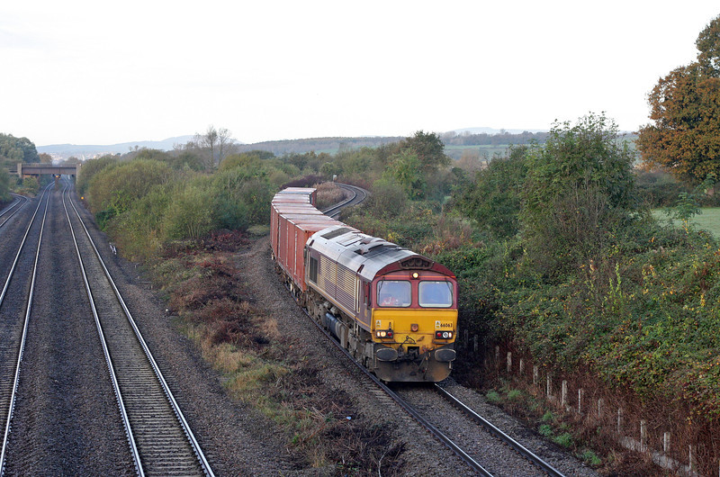 66063, 03.05 Warrington Arpley-Portbury, Llandevenny, near Llanwern, 30-10-12.