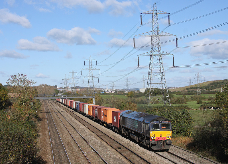 66416, 11.08 Crewe-Cardiff Wentloog, Duffryn, Newport, 27-10-12.