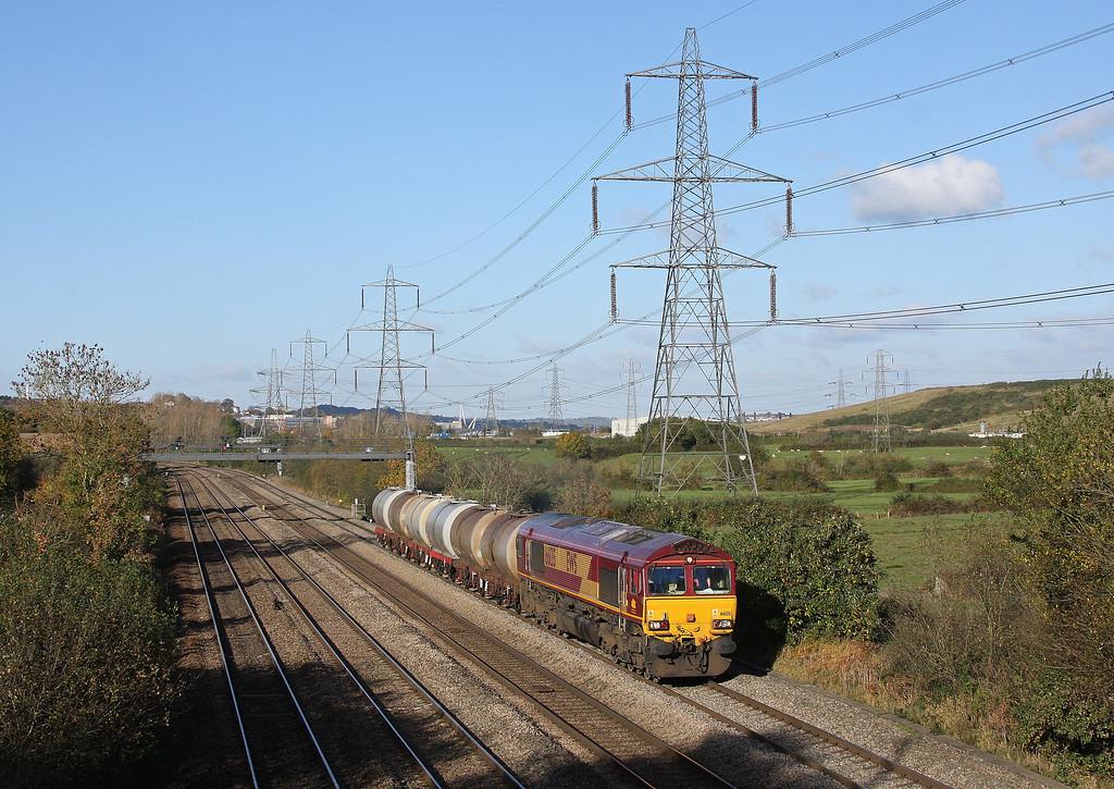 66135, 15.40 Newport Alexandra Dock Junction-Cardiff Tidal, Duffryn, Newport, 27-10-12.