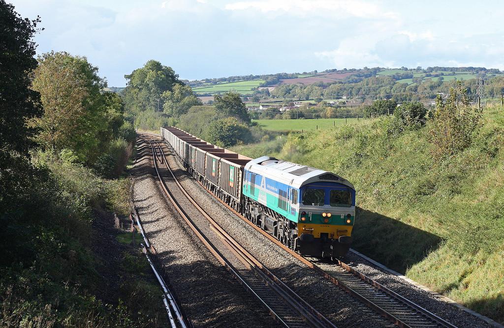 59005, 12.41 Exeter Riverside Yard-Westbury Yard, Whiteball, 12-10-12.