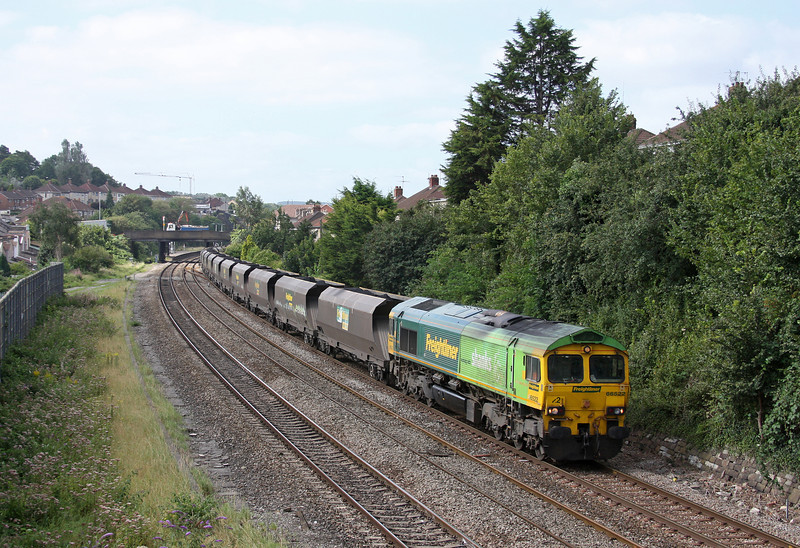 66522, 10.50 Portbury-Rugeley Power Station, Parson Street, Bedminster, Bristol, 5-9-12.