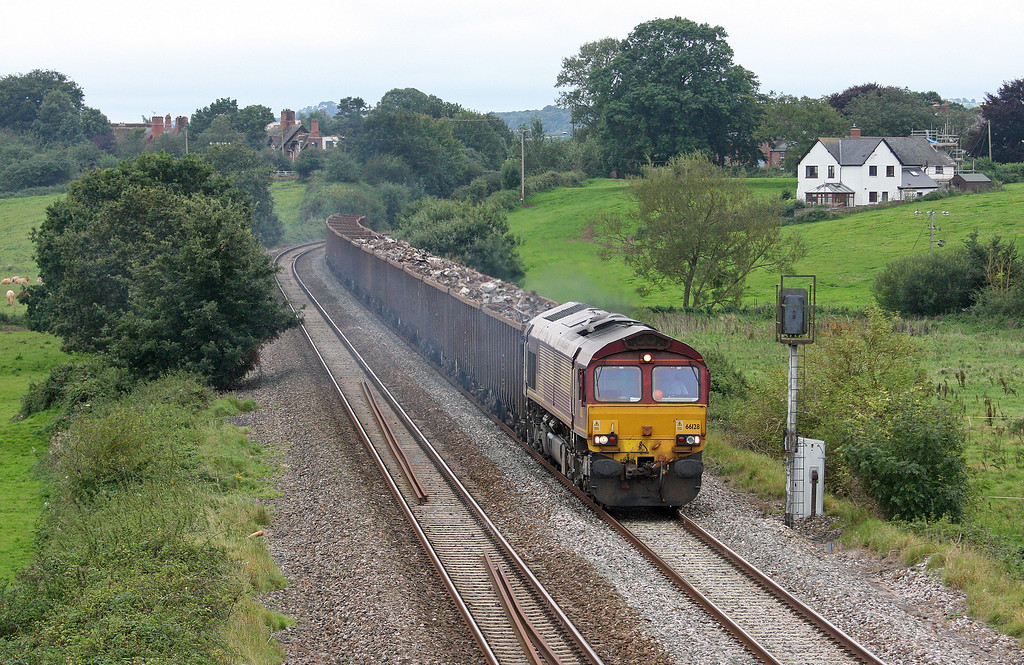 66128, 17.18 Exeter Alphington Road-Cardiff Tidal Sidings, Rewe, near Exeter, 4-9-12.