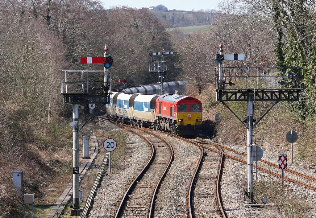 59204, 12.15 Machen Quarry-West Drayton, Park Junction, Newport, 2-4-13.