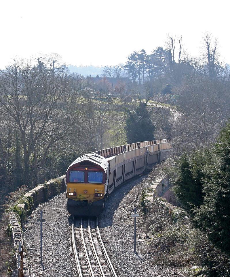 66025, 03.05 Warrington Arpley Yard-Portbury, Pill, Bristol, 2-4-13.
