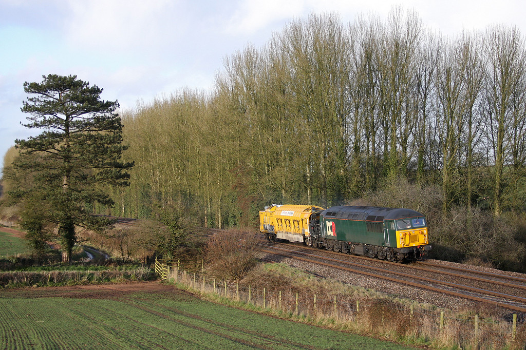 56303, 09.47 Doncaster Wood Yard-Plymouth Keyham, Beambridge, near Wellington, 11-4-13.