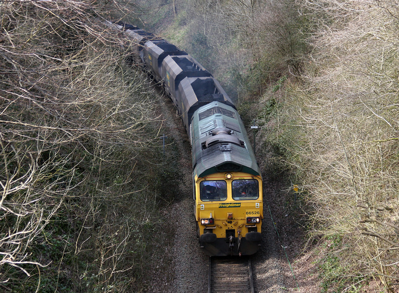 66526, 10.50 Portbury-Rugeley Power Station, Chapel Pill, Bristol, 2-4-13.