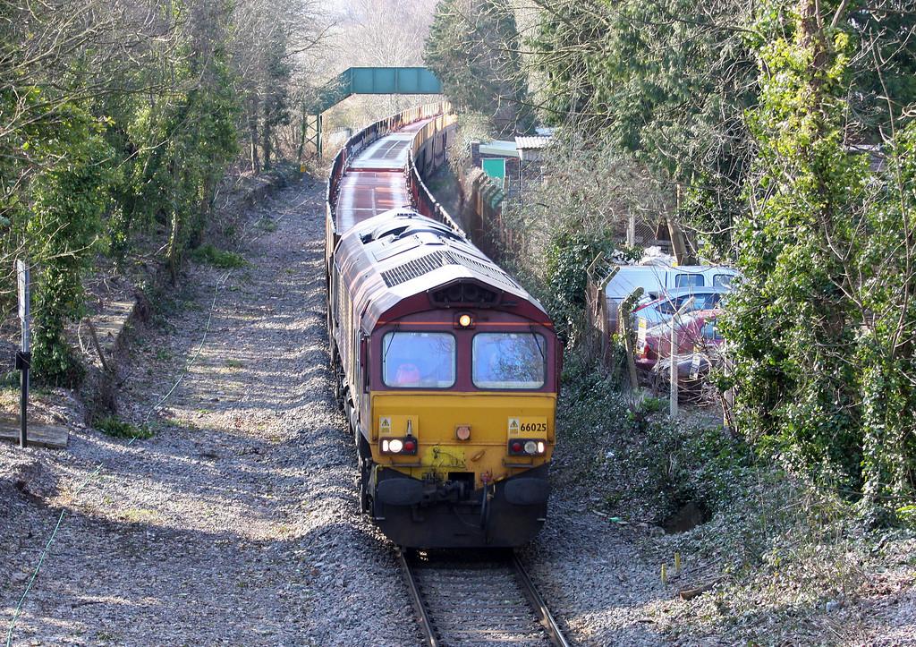 66025, 03.05 Warrington Arpley Yard-Portbury, Ashton, Bristol, 2-4-13.