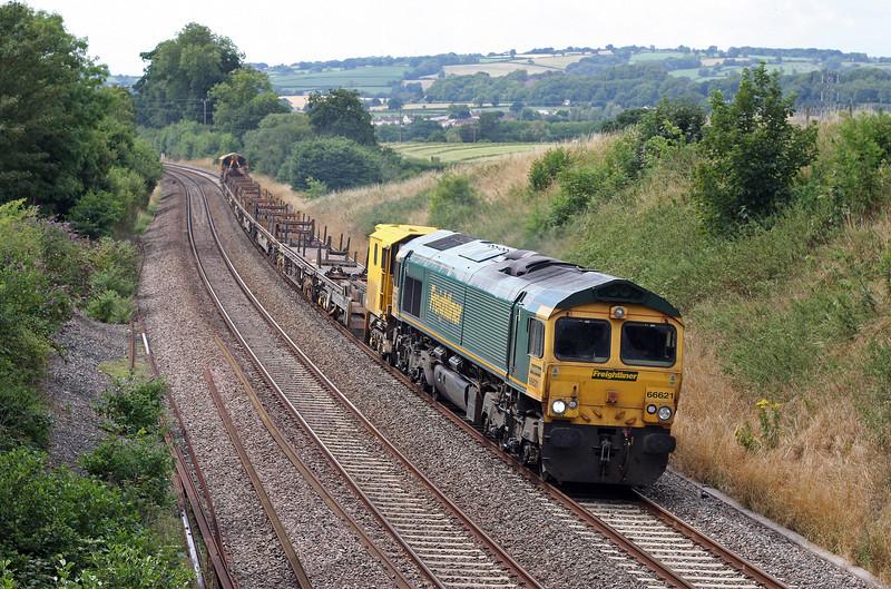 66621, 12.42 Newton Abbot Hackney Yard-Westbury, via Bristol, Whiteball, 7-8-13.
