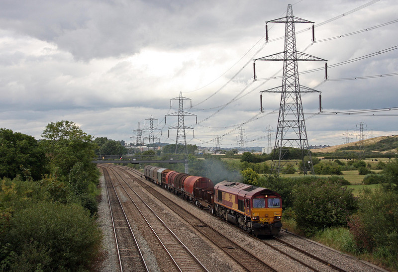 66007, 16.00 Newport Docks-Margam, Duffryn, Newport, 13-8-13.