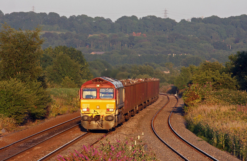 66041, 17.18 Exeter Alphington Road-Cardiff Tidal, Pilning, 1-8-13.