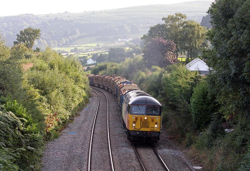 56087, 15.25 Baglan Bay-Chirk Kronospan, Llanvihangel Crucorney, near Abergavenny, 20-8-13.