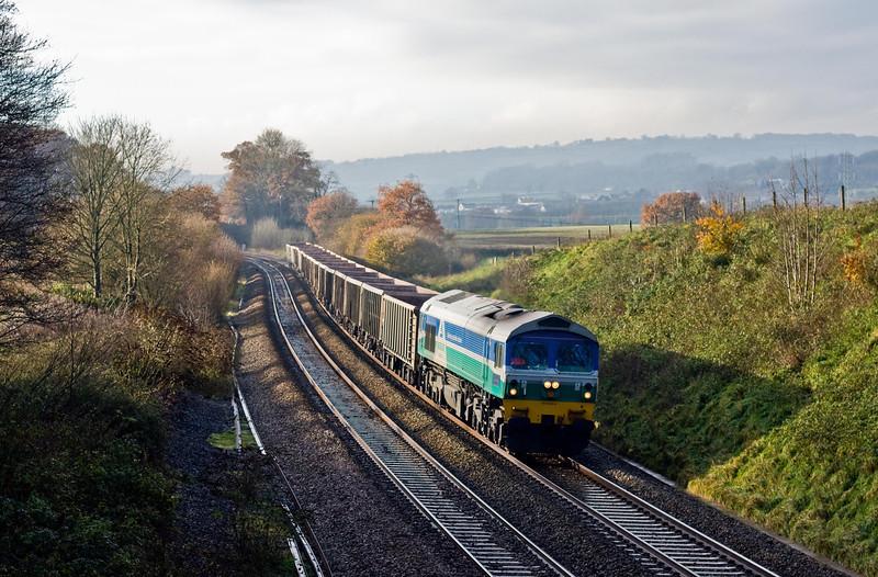 59005, 11.25 Exeter Riverside Yard-Westbury Yard, Whiteball, 9-12-13.