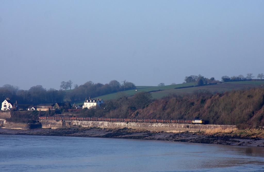 56312, 07.00 Cardiff Tidal-Chaddesden Sidings, Purton, near Lydney, 18-2-13.