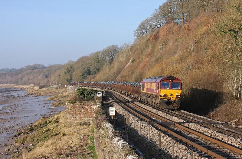 66099, 05.50 Margam-Corby, Gatcombe, near Lydney, 18-2-13.