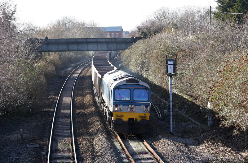 59004, 13.39 Exeter Riverside Yard-Westbury Yard, Creech St Michael, near Taunton, 6-2-13.