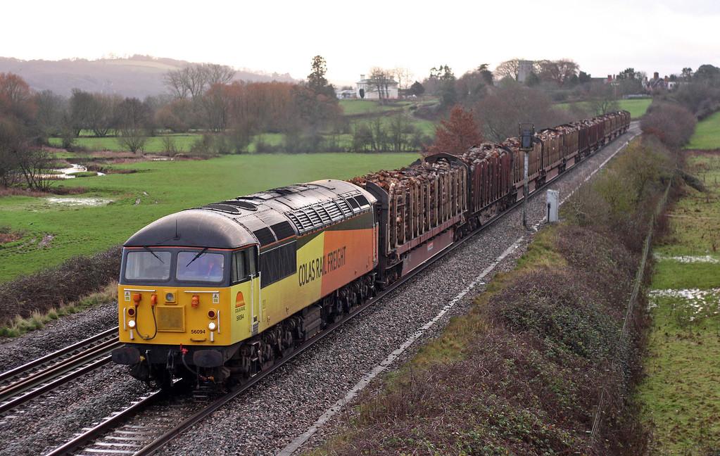 56094, 14.41 Teigngrace-Chirk Kronospan, Rewe, near Exeter, 10-1-13.