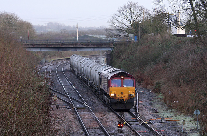 66030, 06.53 Westbury Lafarge-Moorswater Lafarge, Tiverton Loops, Willand, near Tiverton, 28-1-13.