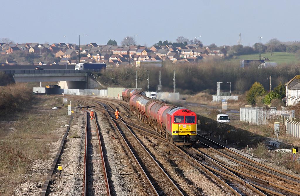 60017, 05.07 Robeston-Westerleigh, Severn Tunnel Junction, 30-1-13.