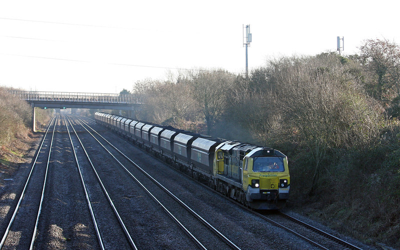 70006, 08.25 Portbury-Fiddlers Ferry Power Station, Llandevenny, near Llanwern, 15-1-13.