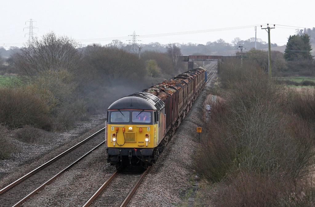 56094, 14.41 Teigngrace-Carlisle Yard, Exminster, near Exeter, 31-1-13.