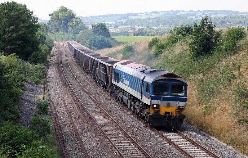 59104, 11.15 Exeter Riverside Yard-Whatley Quarry, Whiteball, 17-7-13.