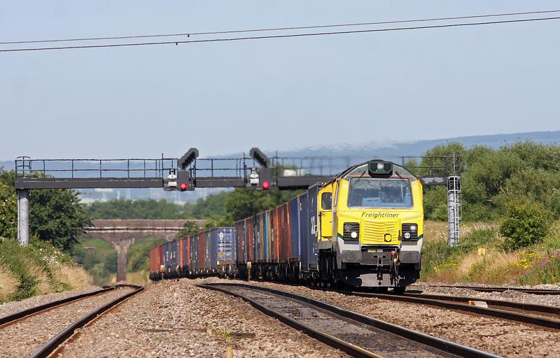 70017, 09.58 Cardiff Wentloog-Southampton MCT, Pilning, 9-7-13.