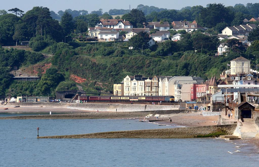 57313/57601, 09.50 Torquay-Saltburn, Marine Parade, Dawlish, 8-7-13.