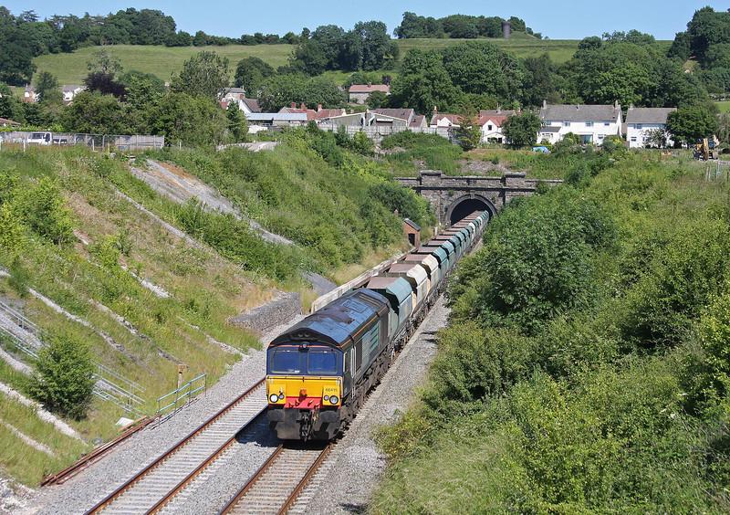 66415, 12.43 Neasden Charrington- Bristol Stoke Gifford Yard, Chipping Sodbury, 9-7-13.