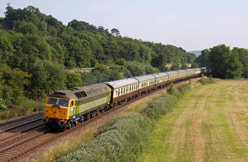 47812, 16.50 Kingswear-Bristol Temple Meads, Torbay Express, Cullompton, 7-7-13.
