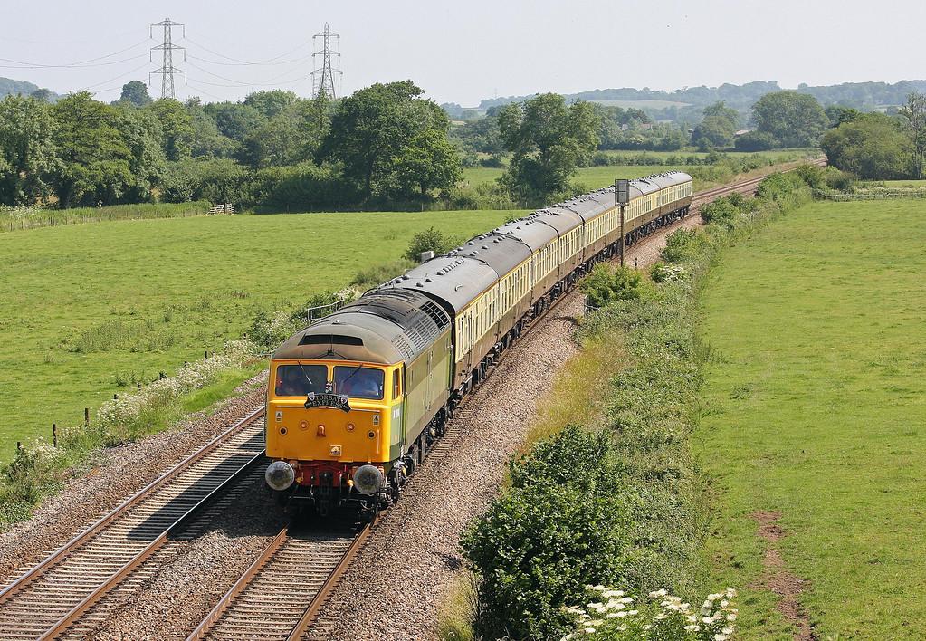 47812, 09.15 Bristol Temple Meads-Kingswear, Torbay Express, Tiverton Parkway, 7-7-13. Steam ban.