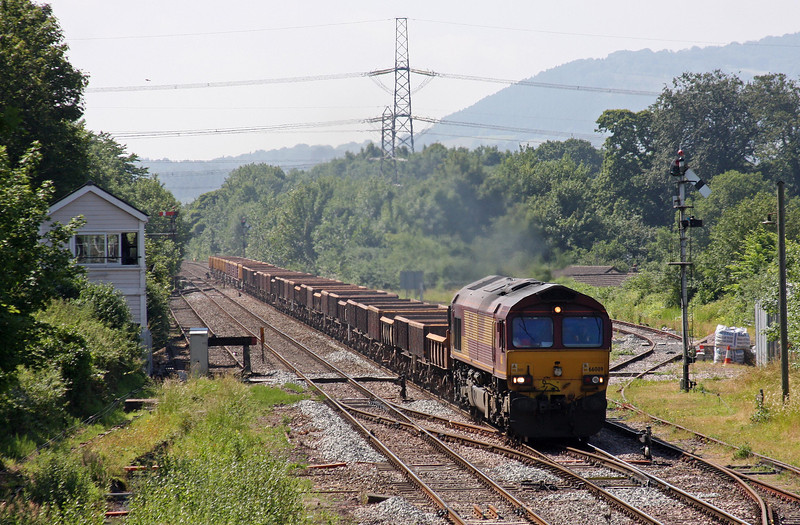 66089, 08.22 Oxford Hinksey Sidings-Shelwick Junction (near Hereford), Abergavenny, 6-7-13.