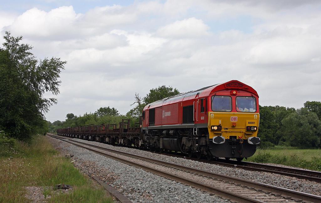 66001, 10.23 Corby-Margam, Awre, near Blakeney, Gloucestershire, 1-7-13.