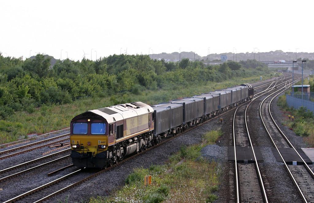 66017, 16.21 Margam-Hartlepool, Severn Tunnel Junction, 1-7-13.