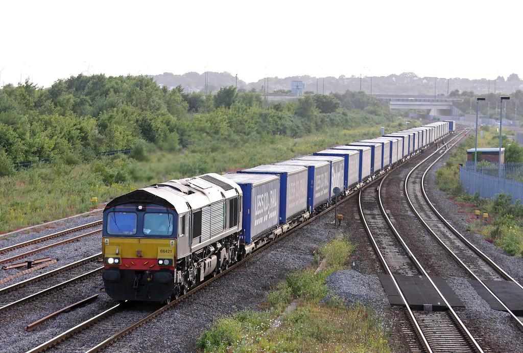 66421, 18.58 Cardiff Wentloog-Daventry International Rail Freight Terminal, Severn Tunnel Junction, 1-7-13.